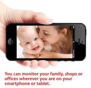 IP-camera voor binnen zwart, bewakingscamera voor smartphone e.d.
