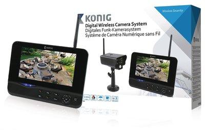 Digitaal 2.4 GHz draadloos camerasysteem met 7