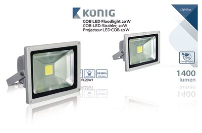 COB LED-bouwlamp 20 W 1400 lumen