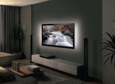 USB TV-mood light LED 2 strips 50 cm Wit