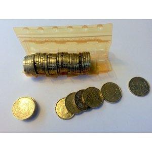 Muntcontainers geschikt voor hergebruik.  10 eurocent