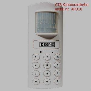 Bewegings- alarm met ingebouwde telefoonkiezer SEC-APD10