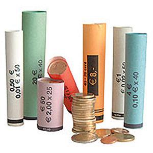 80 Voorgefabriceerde munthulzen van 1 cent tot 2 euro ,kant en klaar.