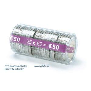 Muntcontainers geschikt voor hergebruik. Alle munten vanaf 10 ct.