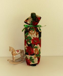 Flesverpakking met diverse Kerst motieven, handwerk.